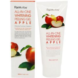 Отшелушивающий гель FarmStay с экстрактом яблока, выравнивающий тон кожи 180мл