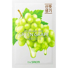 Тканевая маска The SAEM с экстрактом винограда Natural Green Grape Mask Sheet 21 мл