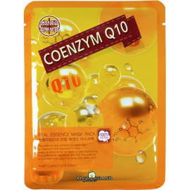 Маска для лица тканевая MAYISLAND Real Essence Coenzyme Q10 Mask Pack 25 мл