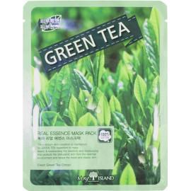 Маска для лица тканевая MAYISLAND Real Essence Green Tea Mask Pack