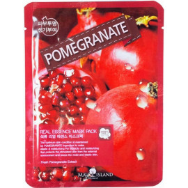 Маска для лица тканевая MAYISLAND Real Essence Pomegranate Mask Pack 25 мл