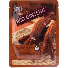 Маска для лица тканевая MAYISLAND Real Essence Red Ginseng Mask Pack 25 мл