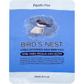 Тканевая маска для лица FarmStay увлажняющая с экстрактом ласточкиного гнезда