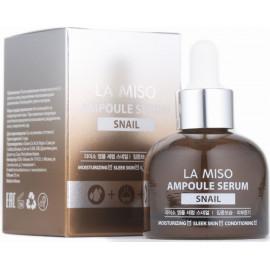 Восстанавливающая ампульная сыворотка La Miso с муцином улитки Ampoule Serum Snail 35 мл