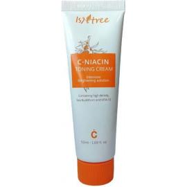 Тонизирующая осветляющий крем для лица IsNtree с витамином С C-NIACIN TONING CREAM 50 мл