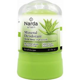 Кристаллический дезодорант Narda Алое вера Mineral deodorant aloe vera 45 гр c бесплатной доставкой