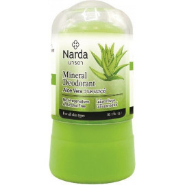 Кристаллический дезодорант Narda Алое вера Mineral deodorant aloe vera 80 гр купить