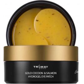 Патчи Trimay с золотым шелкопрядом Gold Cocoon&Salmon Hydrogel Eye Patch 60 шт