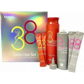 Набор Masil шампунь+маска для волос shampoo 300 мл+8мл*2+ mask 200 мл+8мл*2