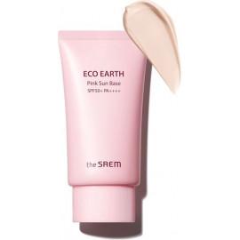 Крем-база The Saem с каламиновой пудрой Eco Earth Pink Sun Base 50 гр