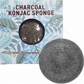 Спонж конняку Trimay Charcoal Konjac Sponge черный в коробочке 1 шт