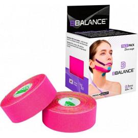 Кинезио тейп BBTape FACE PACK 2,5см*5м розовый p 2 рулона