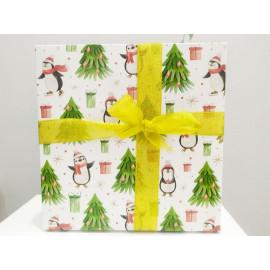 Коробка подарочная Пингвины 20*20*20