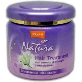 Выпрямляющая маска для волос LOLANE c экстрактом белой лилии 500 мл