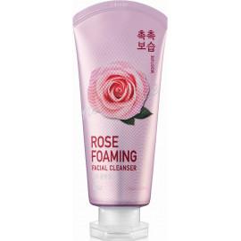 Пенка для умывания Welcos увлажняющая IOU Rose Foaming Facial Cleanser 125 мл в рассрочку по Халве