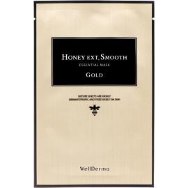 Тканевая маска для лица Wellderma ГЛАДКОСТЬ Honey Ext. Smooth Essential Mask Gold 25 мл