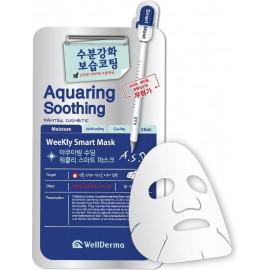 Тканевая маска для лица Wellderma СМЯГЧЕНИЕ Aquaring Soothing Weekly Smart Mask 25 мл