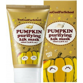 Тыквенная маска Too Cool For School с золотом Pumpkin Purifying 24k Mask 100 мл