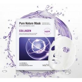 Маска для лица тканевая Anskin Secriss Pure Nature Mask Pack Collagen 25мл