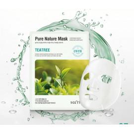 Маска для лица тканевая Anskin Secriss Pure Nature Mask PackTeatree 25мл