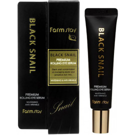 Сыворотка для век Farm Stay с муцином улитки Black Snail Premium Rolling Eye Serum 25 мл
