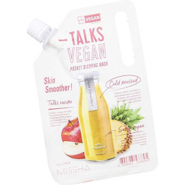 Маска для лица Missha TALKS VEGAN SQUEEZE POCKET SLEEPING MASK SKIN SMOOTHER 10гр
