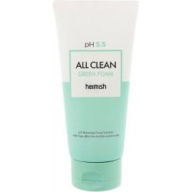 Гель для умывания для чувствительной кожи Heimish All Clean Green Foam pH 5.5 30 мл