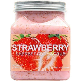Скраб для тела Wokali Strawberry Sherbet Body Scrub с клубникой 500 мл
