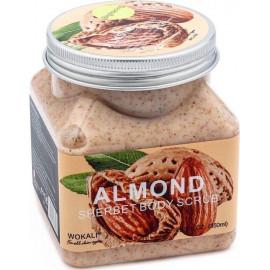 Скраб для тела Wokali с миндальным молочком Sherbet Body Scrub Almond 350 мл