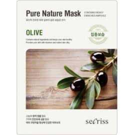 Тканевая маска Anskin Secriss Pure Nature Mask Pack Olive 25мл в Минске