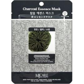 Тканевая маска для лица Mijin Essence Mask древесный уголь d