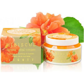 Крем для лица JIGOTT ГИБИСКУС HIBISCUS Flower Vital Cream 100 мл