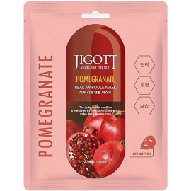 Тканевая маска для лица JIGOTT ГРАНАТ POMEGRANATE Real Ampoule Mask