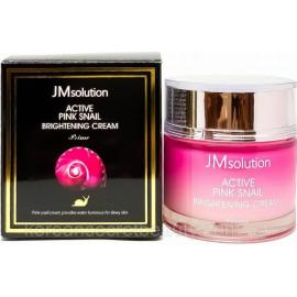 Крем JMsolution с улиткой Active Pink Snail Brightening Cream Prime 60 мл
