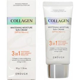 Солнцезащитный крем Enough Collagen Whitening 3 в 1 Moisture Sun Cream SPF50+ PA+++ 50 гр