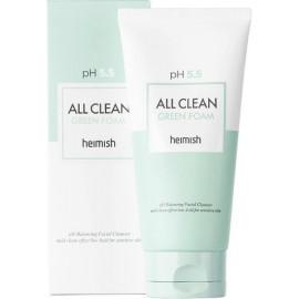 Гель для умывания для чувствительной кожи Heimish All Clean Green Foam pH 5.5 150 мл