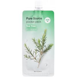 Ночная маска для лица MISSHA Pure Source Tea tree 10 ml c бесплатной доставкой