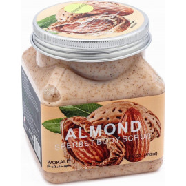 Скраб для тела Wokali с миндальным молочком Sherbet Body Scrub Almond 500 мл