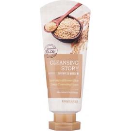 Пенка для умывания Welcos Cleansing Story Foam Cleansing Germinated Brown Rice 120гр c бесплатной доставкой