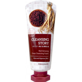 Пенка для умывания Welcos подтягивающая Cleansing Story Foam Cleansing Red Ginseng 120гр в рассрочку по Халве