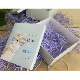 Коробка подарочная 22 см * 25 см №2 лама