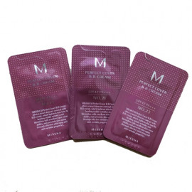 ПРОБНИК ВВ Крем MISSHA M Perfect Cover SPF42/PA+++ (No23/Natural Beige) 1ml в интернет магазине