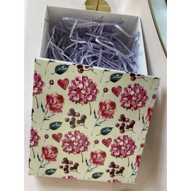 Коробка подарочная 15 см * 15 см гортензия g