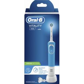 Электрическая зубная щетка Braun Oral-B Vitality PRO CrossAction Blue D100.413.1 в рассрочку по Халве