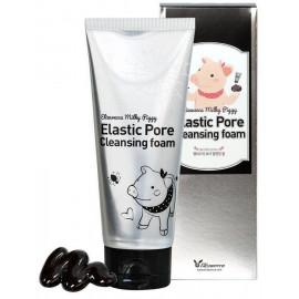 Пенка-маска д/умывания ЧЕРНАЯ Elizavecca Milky Piggy Elastic Pore Cleansing Foam 120 мл