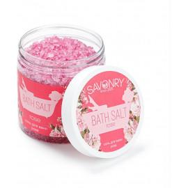 Соль для ванн SAVONRY ROSE с эфирным маслом розы 600 гр, РФ