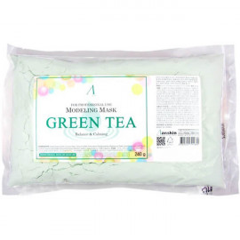 Маска альгинатная ANSKIN с экстрактом зеленого чая успокаивающая Green Tea 240 гр (пакет)