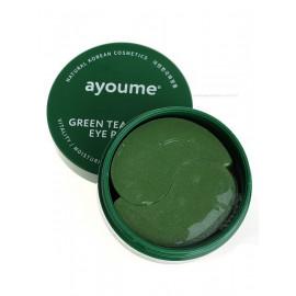 Патчи для глаз AYOUME от отечности с экстрактом зеленого чая и алоэ