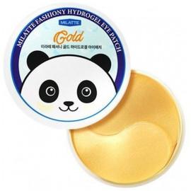 Патчи MILATTE для кожи вокруг глаз гидрогелевые с золотом FASHIONY GOLD 60 шт