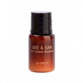 ПРОБНИК Эмульсия SAEM контроль чистоты и жирности кожи пробник SEE & SAW AC Control Emulsion 5мл
